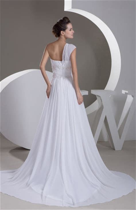 White Inexpensive Bridal Gowns Backless Informal Full