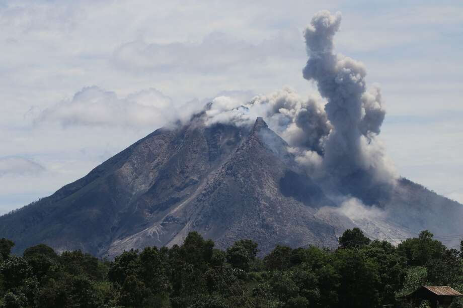 Mount Sinabung in Indonesia's North Sumatra province spews clouds of hot, volcanic ash. Photo: ARDIANSYAH PUTRA, AFP/Getty Images