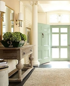 Light-filled entry....beautiful colors
