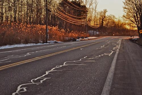 Dry pavement
