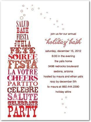 Flat Holiday Party Invitations Uncorked Cheer   Front