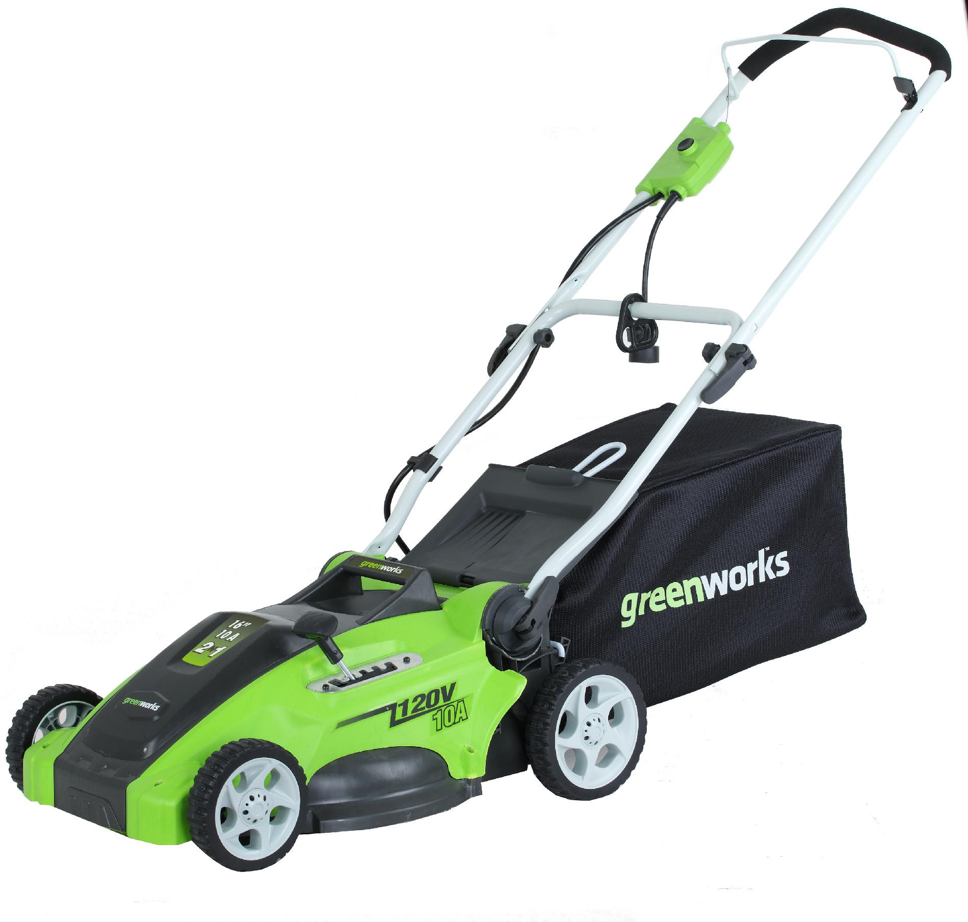 "UPC Greenworks 10 Amp Corded 16"" Mower"