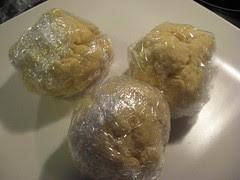 Balls of pasta dough