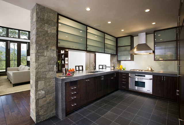 Mountain Home Kitchen Contemporary Kitchen San