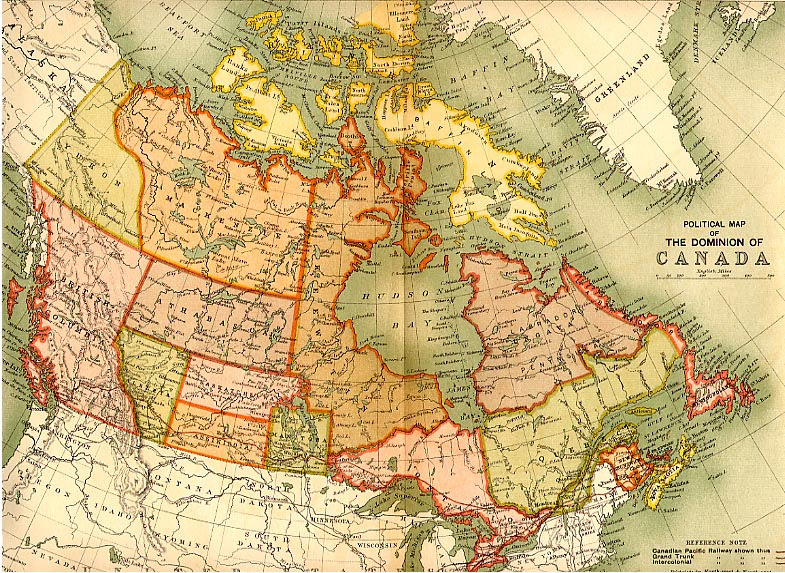 political map of canada 1898