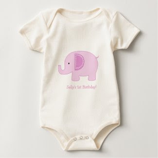 Mod Elephant Pink Infant Bodysuit Shirt shirt
