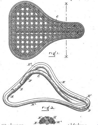 Patent for Bike Saddle 558917