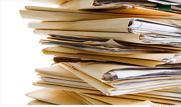 mortgage application file
