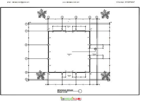 Desain Gambar Kerja Masjid Ukuran 12×12 Meter  Ide Kreasi