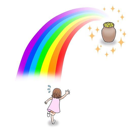 イラスト英語a Pot Of Gold At The End Of The Rainbow夢のような