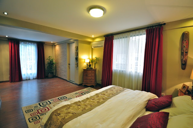 Tropical modern home - asian - bedroom - by Ocean Gecko Designs