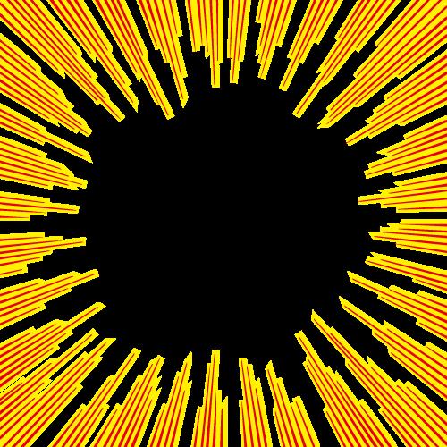 黄色と赤の効果線イラスト 無料商用可能マンガ素材 イラレ用eps