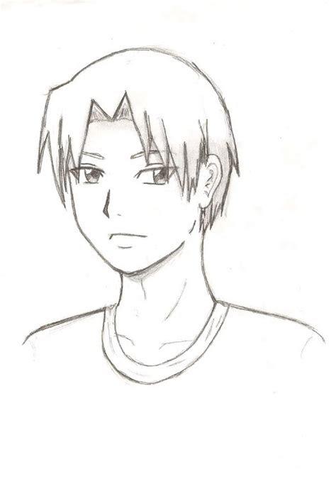 anime boy sketch step  step  paintingvalleycom