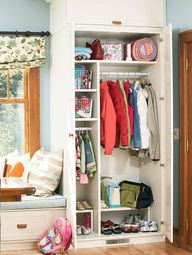 Entryway or Mudroom Storage and Organization