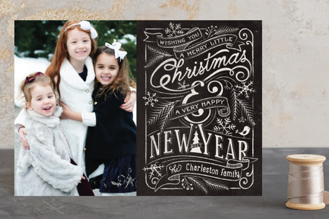 Merry Little Chalkboard Holiday Petite Cards