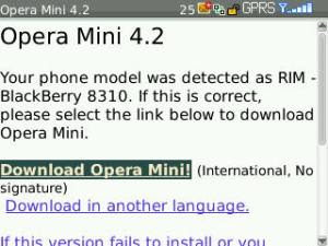 klik Download Opera Mini