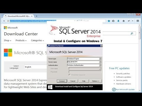 Install and Configure Sql Server 2014 on Windows 7