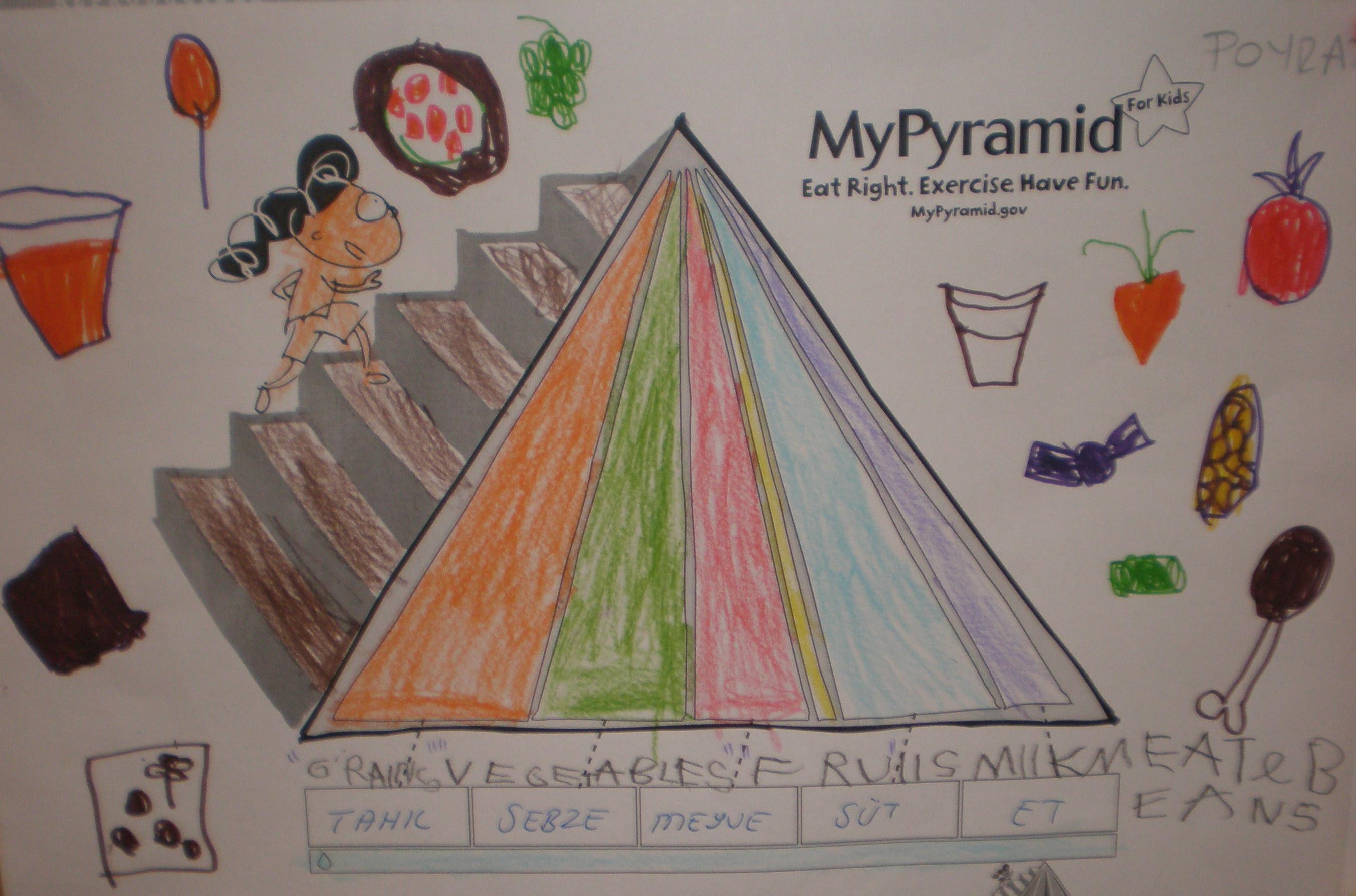 Beslenme Piramidi Okul öncesi Eğitiminet