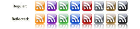 Glass Style RSS Feed Icons