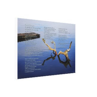 Desiderata Verses on Lakes Edge - wrapped canvas