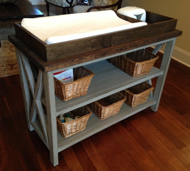 http://www.ana-white.com/2014/03/plans/rustic-x-diy-changing-table-0