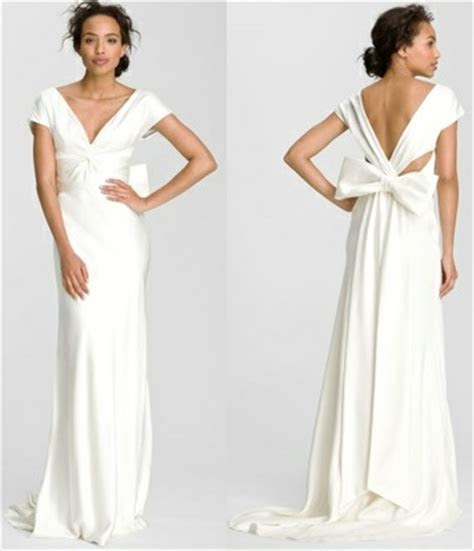 Nicole Miller Bow Back Gown   Bow Back Wedding Dresses