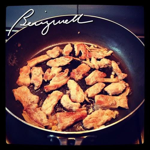 Cooking Szechuan Pork