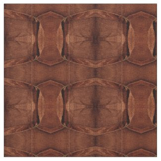Brown Suede With Straps And Buckles Photo Fabric