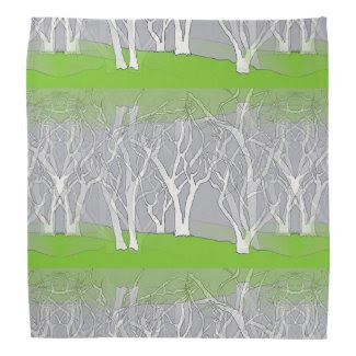 White Fantasy Trees on Bandana