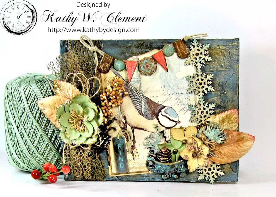 Kathy by Design Winter Bird Altered Book for Gypsy Laser Cuts 02