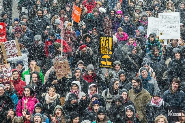Le mouvement étudiant de contestation contre l'austérité et... (PHOTO ÉDOUARD PLANTE-FRÉCHETTE, ARCHIVES LA PRESSE)