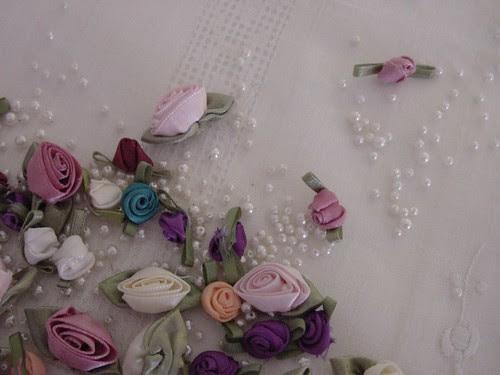 Ribbon Roses and Pearls