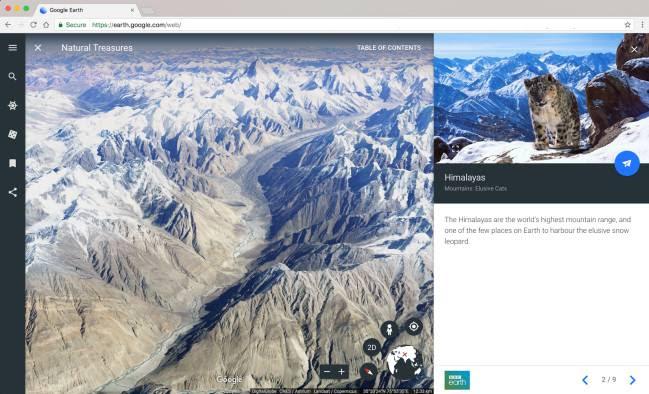 Los National Treasure de Voyager, nueva función de Google Earth