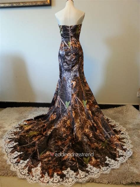 Beautiful Camo Sweetheart Applique Mermaid Wedding Dress
