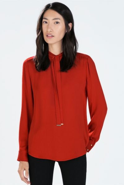 Zara Bowed Blouse