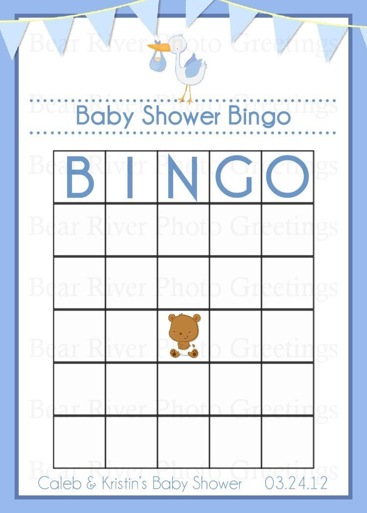 Blank Baby Shower Bingo Cards – 2017 Calendar
