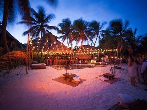 Akiin Tulum wedding beach set up   Wedding in 2019   Night