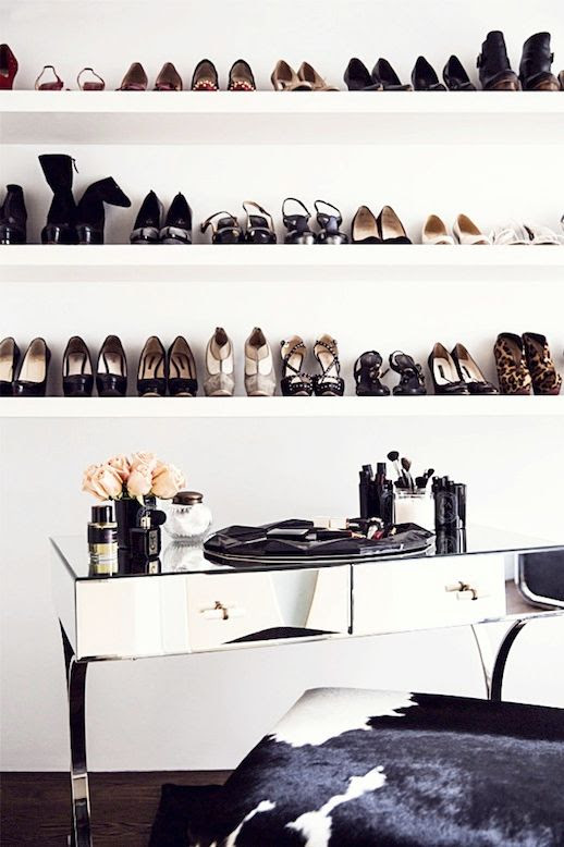 Le Fashion Blog A Fashionable Home Dream Closet Shoe Shelves Mirrored Desk Rita Hazan New York City Loft Nate Berkus Jeremiah Brent Interior Design Via Domino Floating Wall Shoe Storage photo Le-Fashion-Blog-A-Fashionable-Home-Dream-Shoe-Shelves-Mirrored-Desk-Rita-Hazan-New-York-City-Loft-Nate-Berkus-Interior-Design-Via-Domino.jpg