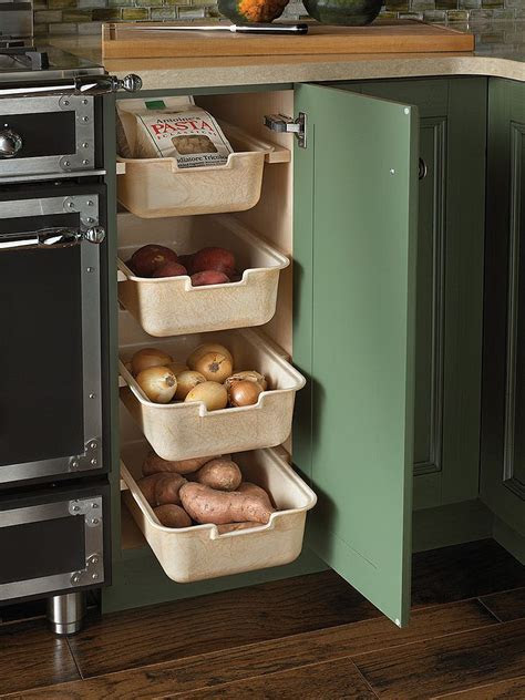 corner drawers  storage solutions   modern kitchen
