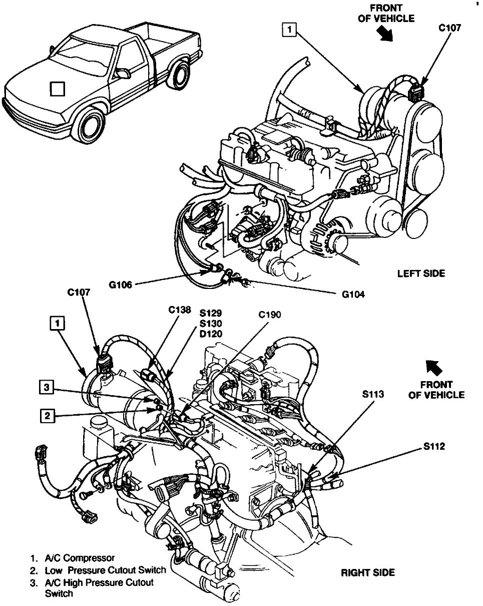 1999 Gmc sonoma engine diagram