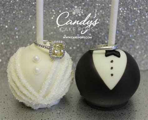 Bride & Groom Wedding Cake Pops   Candy's Cake Pops