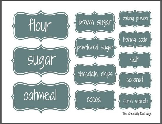 1000+ images about Kitchen & Pantry Labels on Pinterest | Canning ...