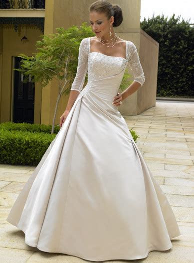 China Wedding Dress With Sleeves (mgwd162)   China Wedding