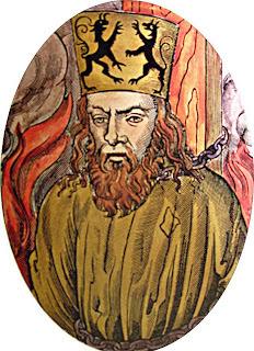 Jan Huss, heresiarca queimado em Praga