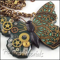 How to make polymer clay jewelry in Steampunk style