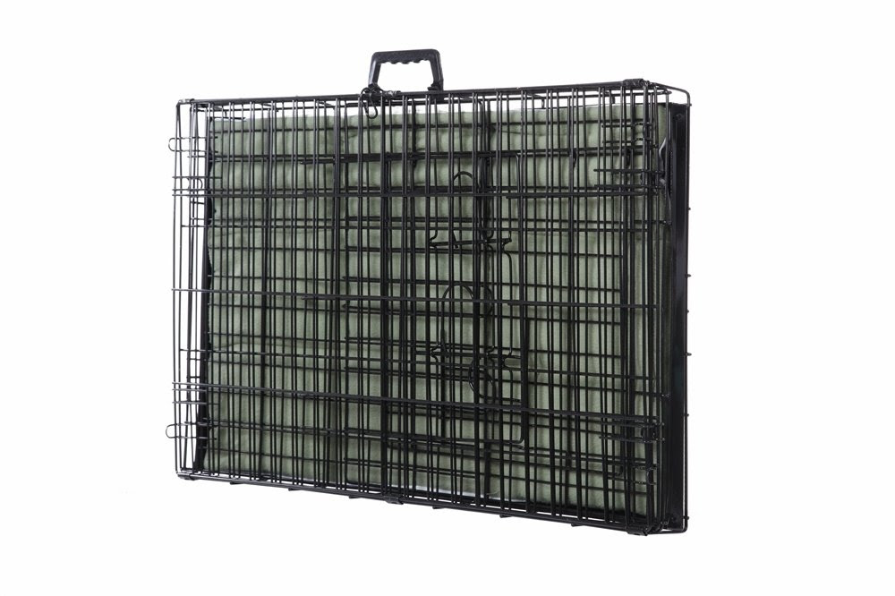 Amazon.com : Confidence Pet 2 Door Dog Cage Crate With Bed - Large ...