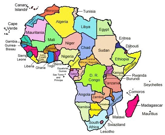 Map Of Africa With Countries Labeled Map Of Africa: Map Of Africa Countries Labeled