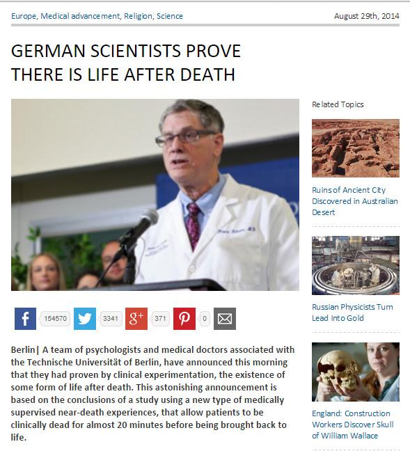 Matéria com a descoberta científica foi compartilhada mais de 150.000 vezes! (reprodução)