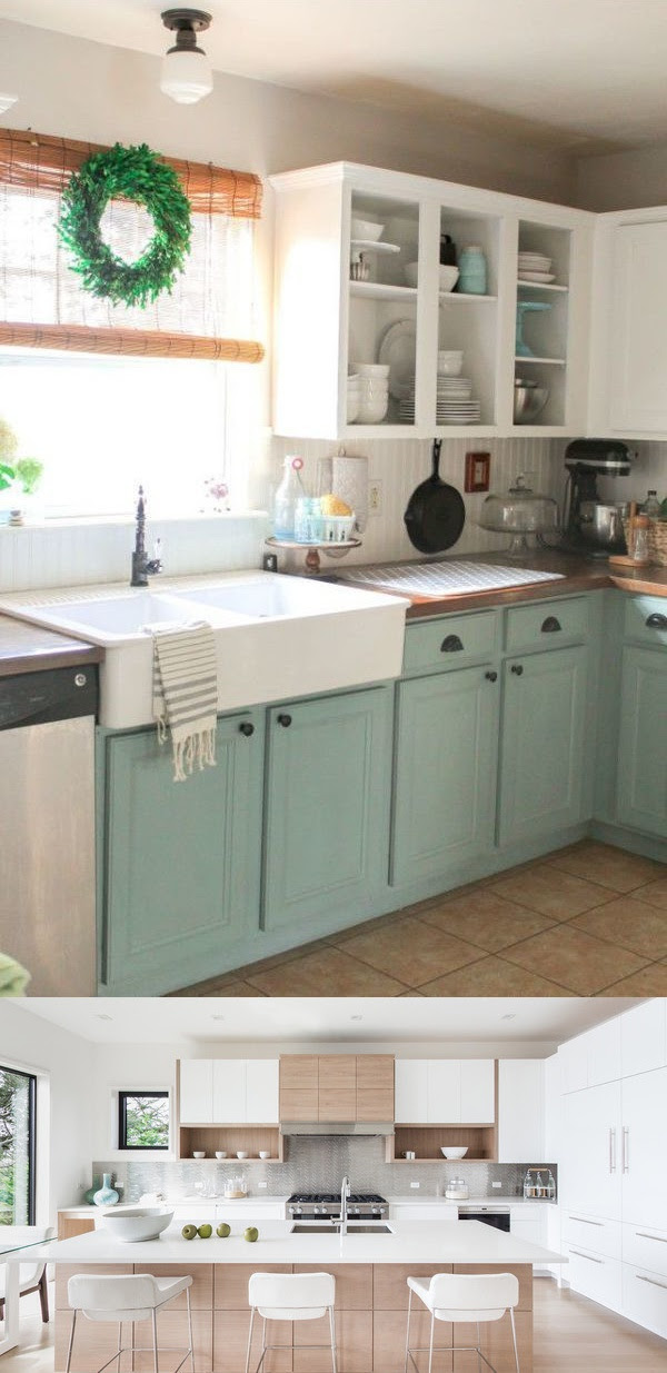 24 Best Kitchen Cabinet Makeovers - My Life Spot