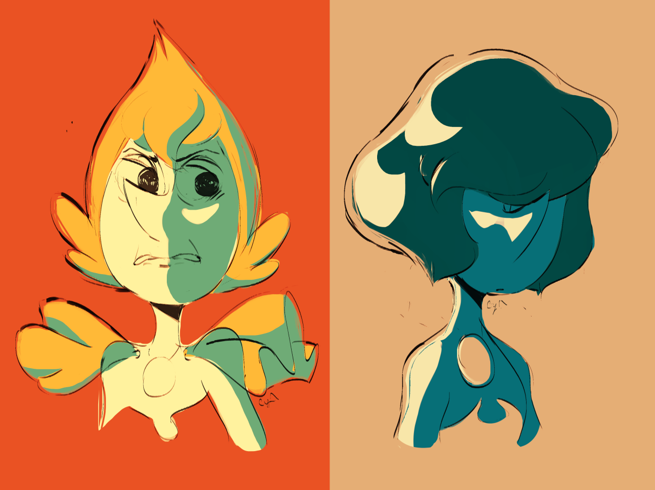 Some pearls i doodled to warm up for something else